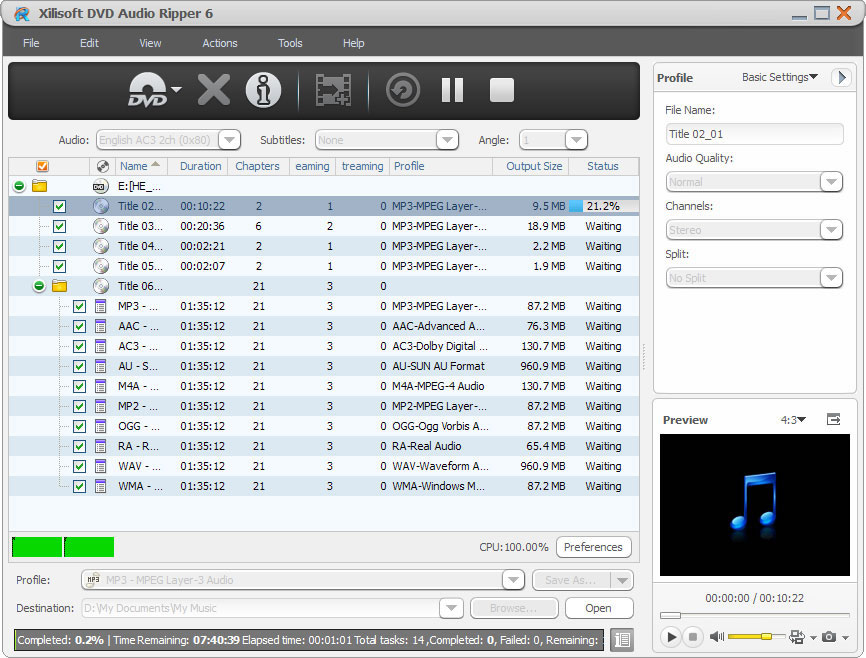 Xilisoft DVD Audio Ripper.