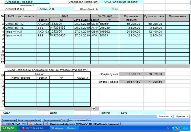 Страховой брокер список