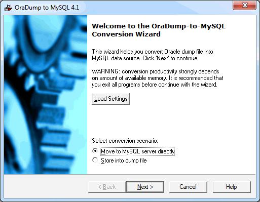 Скриншот программы (версии софта) OraDump-to-MySQL 7.3 #1