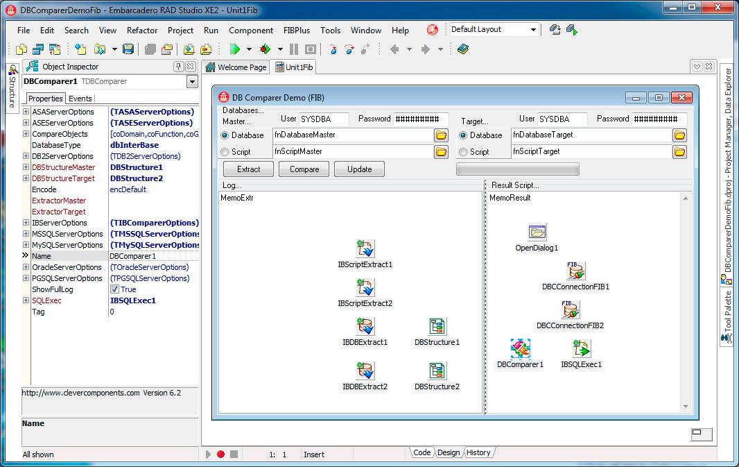 Скриншот программы (версии софта) Пакет Database Comparer VCL & Tools 7.0 #3