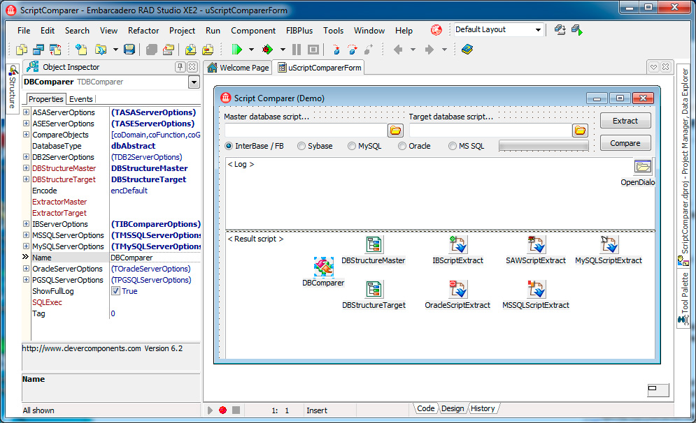 Скриншот программы (версии софта) Пакет Database Comparer VCL & Tools 7.0 #2