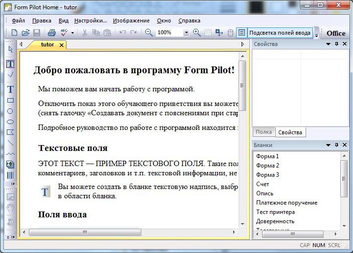 Скриншот программы (версии софта) Form Pilot Home 2.67 #1