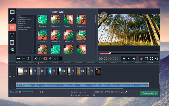 Скриншот программы (версии софта) Movavi 360 Видеоредактор Бизнес #3