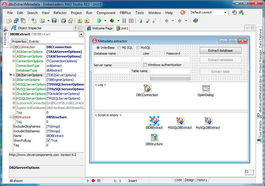 Скриншот программы (версии софта) Пакет Clever Internet Suite & Database Comparer VCL 9.1 & 7.0 #4