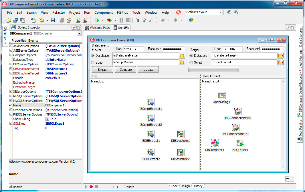 Скриншот программы (версии софта) Пакет Clever Internet Suite & Database Comparer VCL 9.1 & 7.0 #3