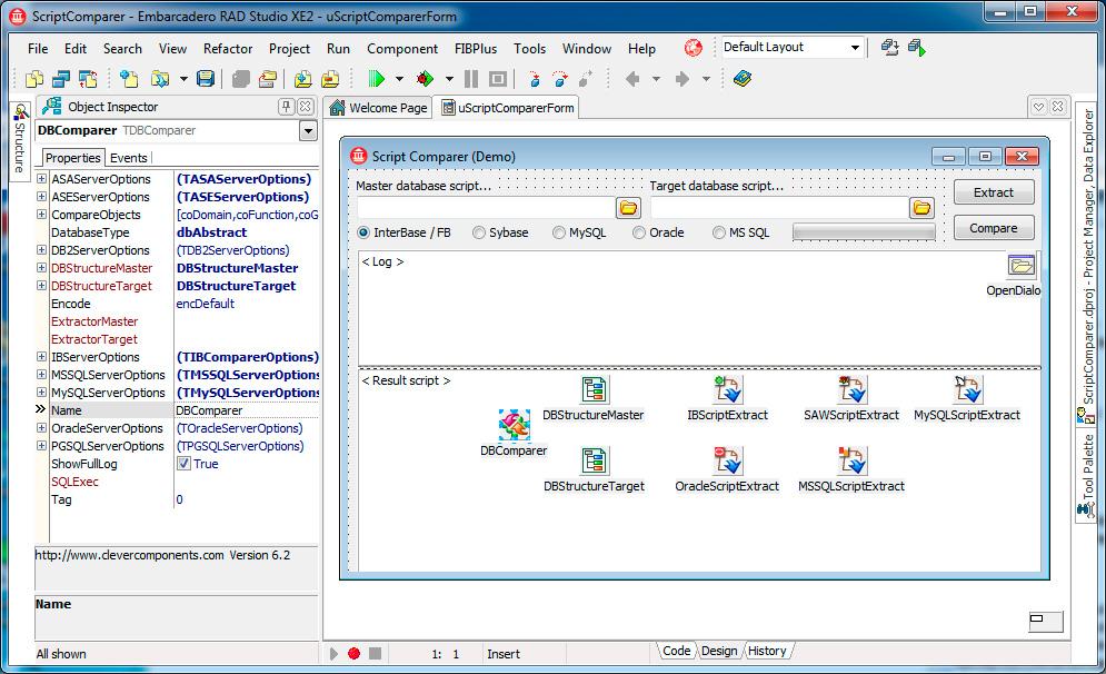 Скриншот программы (версии софта) Пакет Clever Internet Suite & Database Comparer VCL 9.1 & 7.0 #2