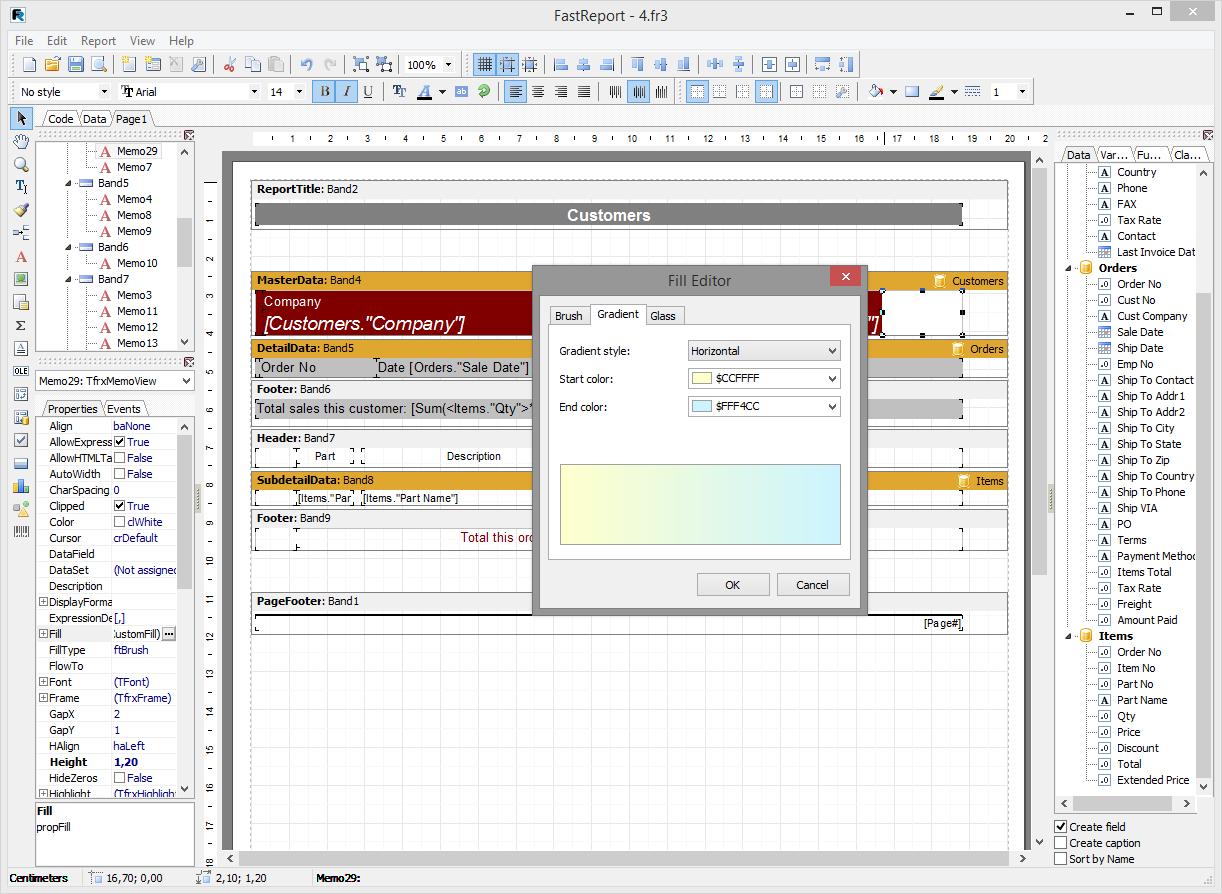 Скриншот программы (версии софта) FastReport VCL 6.1 Standart Edition #3