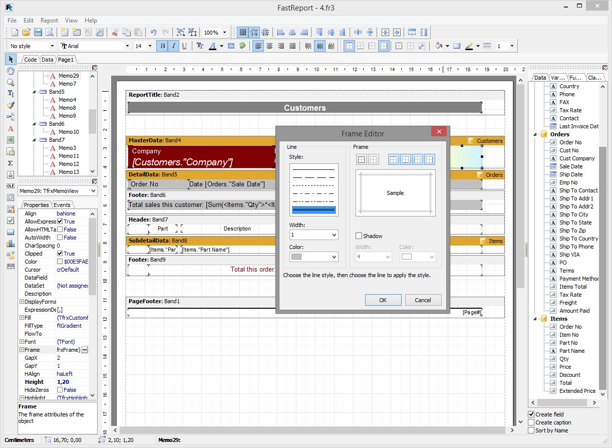 Скриншот программы (версии софта) FastReport VCL 6.1 Standart Edition #2
