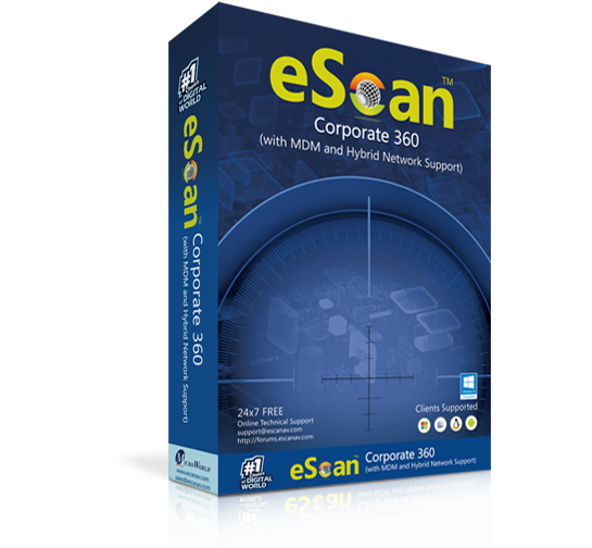 Антивирус eScan Corporate 360 (with MDM & Hybrid Network Support)