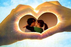 Шаблоны романтических открыток