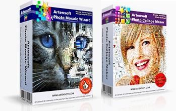 Пакет программ Artensoft Photo Mosaic Wizard + Artensoft Photo Collage Maker