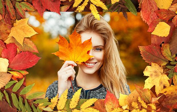 Рамки для фото Осенние листья 100 готовых рамок для фотографий