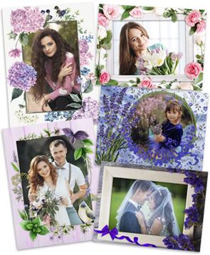 Цветочные рамки для фотографий 100 готовых рамок