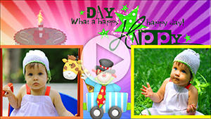 Шаблоны слайд-шоу С Днем рождения (для детей)