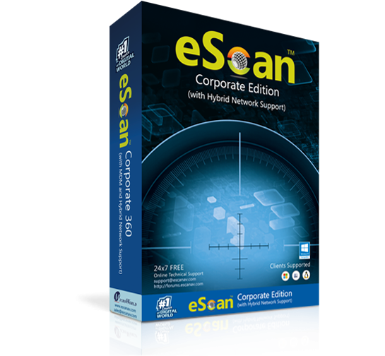 Антивирус eScan Corporate Edition (with Hybrid Network Support)