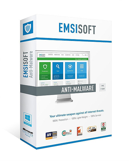 Антивирус Emsisoft Anti-Malware Home Лицензия на 1 год