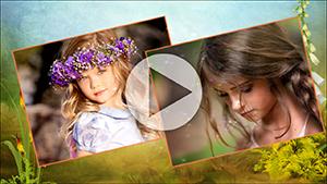 Шаблоны слайдов Летнее детское слайд-шоу от Allsoft