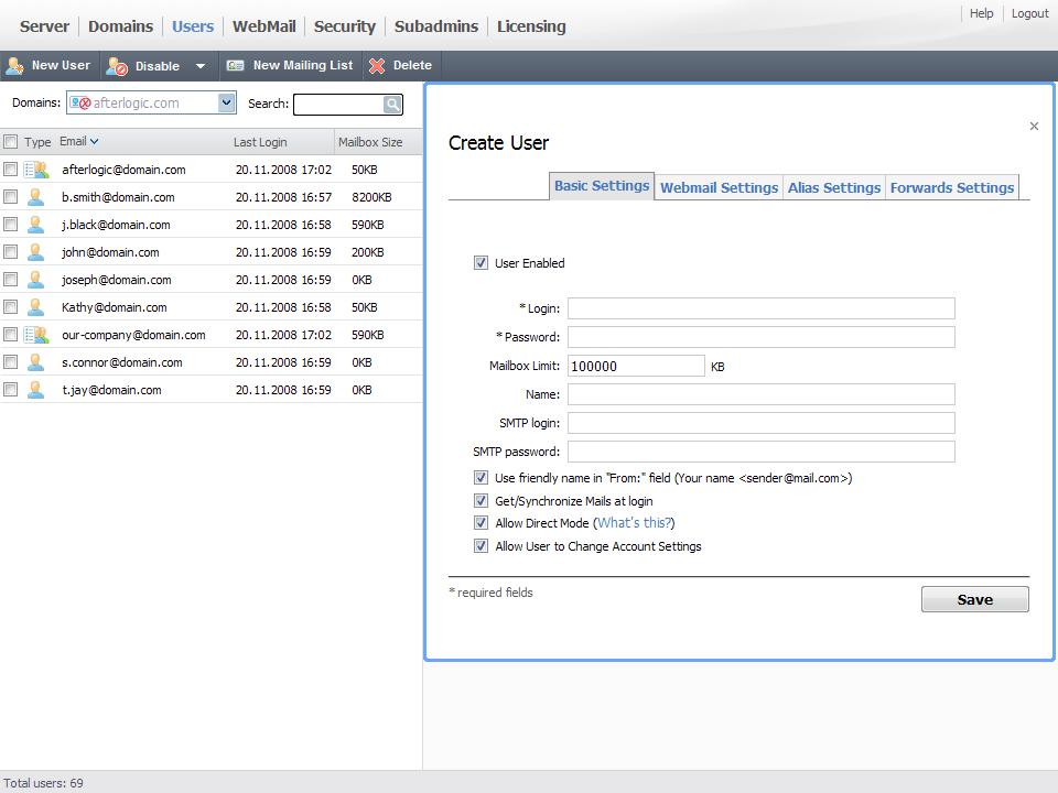 AfterLogic MailSuite Pro 7.6 (Linux)