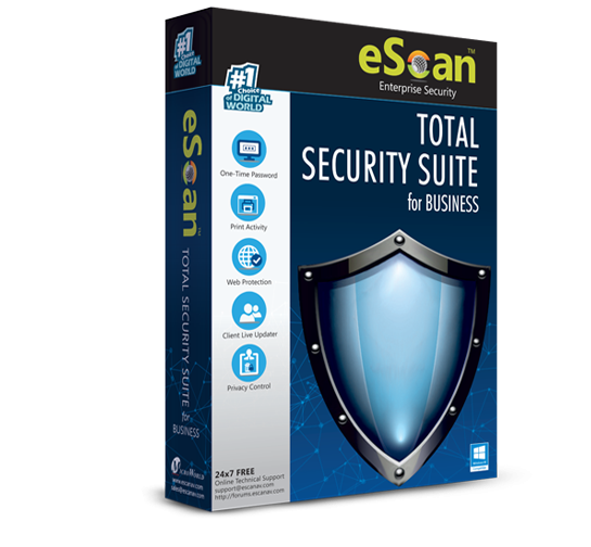 Антивирус eScan Total Security Suite for Business
