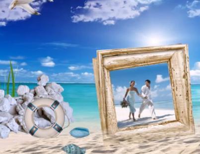 Отпуск на море  шаблоны слайд-шоу