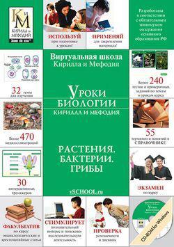 Уроки биологии Кирилла и Мефодия. 6 класс