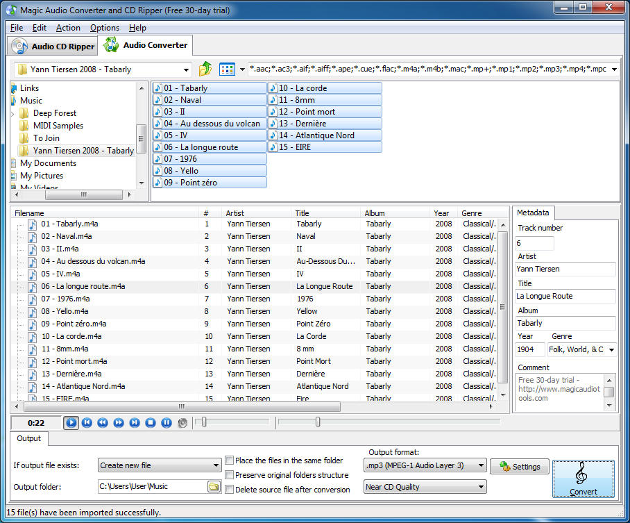 Magic Audio Converter and CD Ripper 2.1.7