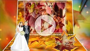 Шаблоны для слайд-шоу Осенний свадебный вальс