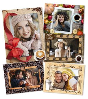 Кофейные рамки 100 рамок для фотографий