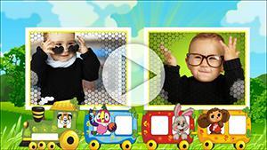 Шаблоны Красочное детское слайд-шоу