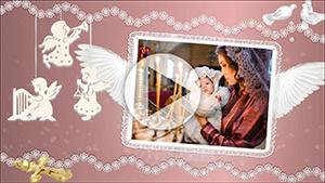 Шаблоны для слайд-шоу Крещение ребенка