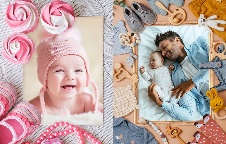Детские рамки для самых маленьких Наш малыш - 100 рамок для фотографий
