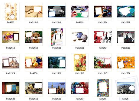 Шаблоны для открыток с фотографиями