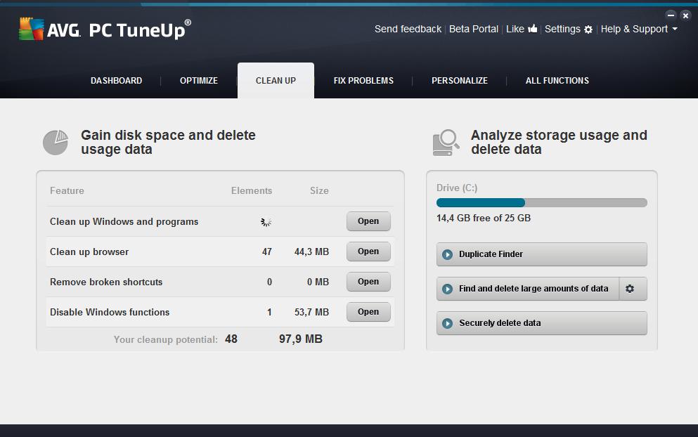Программы для компьютера tuneup