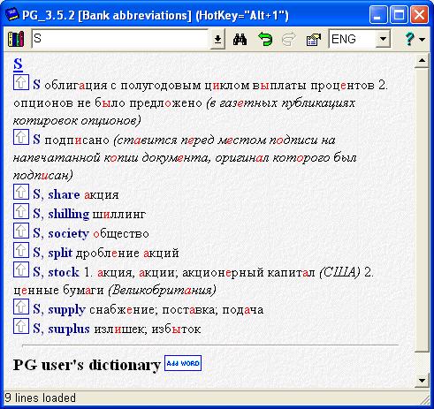 Банковский английский словарь