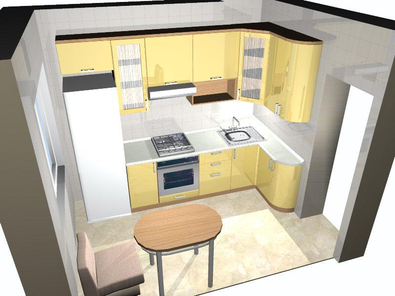 3д дизайн кухни
