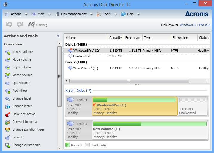 Скачать Программу Acronis Disk Director 12 img-1