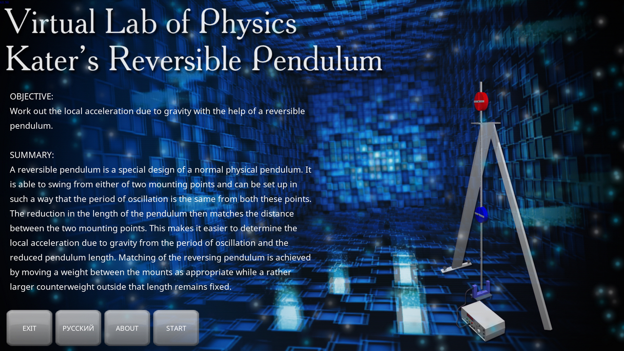 physics pendulum lab This is a simulation of a double pendulum for large motions it is a chaotic system, but for small motions it is a simple linear system you can change parameters in the simulation such as mass, gravity, and length of rods.